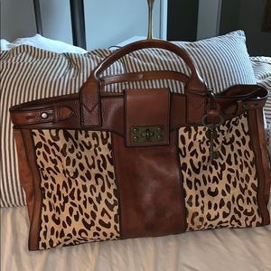 Fossil vintage reissue Leopard weekend bag